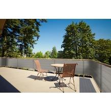 Floracord HDPE Balkonumrandung 90cm x 500 cm grau inkl. Kordeln zum befestigen