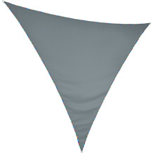 "Floracord HDPE Dreiecksonnensegel mit Licht LED ""bunt"" 360 x 360 x 360 cm grau"