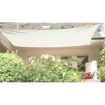 Floracord HDPE Vierecksonnensegel creme weiß 400 x 500 cm creme Wind- u. Wasserdurchlässig