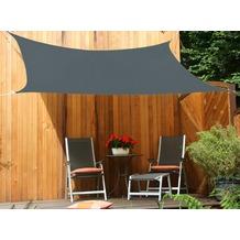 Floracord HDPE Vierecksonnensegel grau 250 x 300 cm Wind- u. Wasserdurchlässig