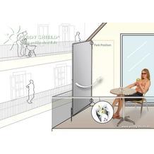 Floracord Paravent Sicht- und Windschutz Hell Silbergrau 70 cm x 170 cm