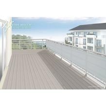 Floracord Polyester Balkonumrandung waschbar silbergrau 65x 300 cm inkl. Kordel zum befestigen