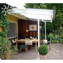 Floracord Sonnensegel weiß 275 x 91 cm + 26 x LH + 2 x Stopper