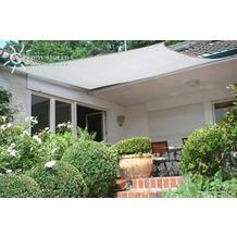 Floracord Vierecksonnensegel weiß 300 x 400 cm mit Regenschutz incl. Zubehör