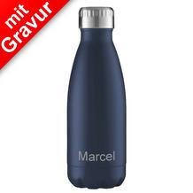 FLSK Isolierflasche MIT GRAVUR (z.B. Namen) 350 ml Midnight dunkelblau blau