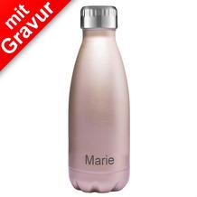 FLSK Isolierflasche MIT GRAVUR (z.B. Namen) 350 ml Roségold rosa