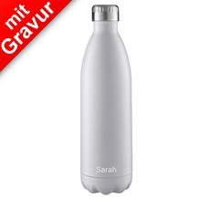 FLSK Isolierflasche 1000ml White weiß MIT GRAVUR (z.B. Namen)