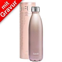 FLSK Isolierflasche 500ml Roségold MIT GRAVUR (z.B. Namen)