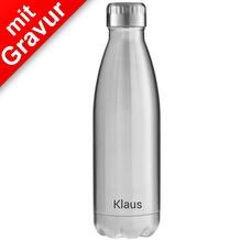 FLSK Isolierflasche 500ml Stainless Edelstahl MIT GRAVUR (z.B. Namen)