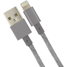 Fontastic Datenkabel Elox Lightning 1.5m space grau Stecker Alu-Gehäuse Kabel Nylon-Ummantelung