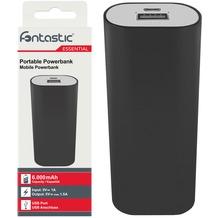 Fontastic Essential Power Bank 6.0 - 6000mAh - schwarz - USB - max. 1,5A