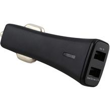 Fontastic Kfz-Ladeadapter Smart Twin-USB 3.1A schwarz mit integriertem Smart IC