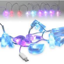 Fontastic LED Ladekabel Micro-USB 1,2m transparent 9 bunt beleuchtete Buchstaben - Carpe Diem