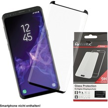 Fontastic Prime Curved Full Cover Schutzglas Schwarz Case Friendly, komp. Samsung Galaxy S9