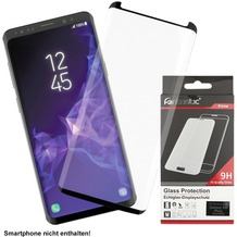 Fontastic Prime Curved Full Cover Schutzglas Schwarz Case Friendly, komp. Samsung Galaxy S9 Plus