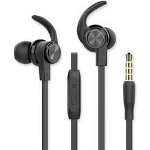 Fontastic Prime In-Ear Sport Headset SPRY 3.5mm schwarz Rufannahme-Taste, Sicherer Tragekomfort