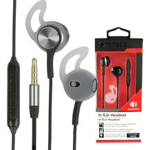 Fontastic Prime In-Ear Stereo-Headset V415 3.5mm sw/anthrazit 3-Tasten-Fernbedienung,Mikrofon,Ergonomische Form