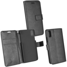 Fontastic Prime PU Tasche Diary Business schwarz komp. mit Apple iPhone X