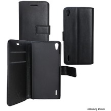 Fontastic Prime PU Tasche Diary Business schwarz komp. mit Huawei Honor 9