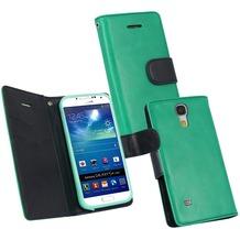 Fontastic PU Tasche Diary Twin grün für Samsung Galaxy S4 Mini