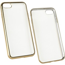 Fontastic Softcover Clear Metallic Ultrathin Gold für Apple iPhone 7