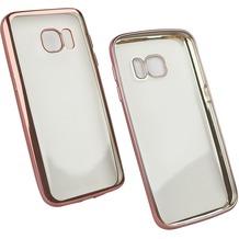 Fontastic Softcover Clear Metallic Ultrathin Rosegold für Samsung Galaxy S7