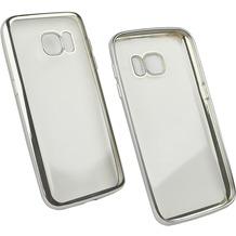 Fontastic Softcover Clear Metallic Ultrathin Silber für Samsung Galaxy S7
