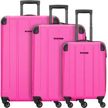 Franky Munich 4-Rollen Kofferset 3tlg. pink