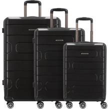 Franky PP12 4-Rollen Kofferset 3tlg. mit Doppelrollen black