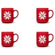 Friesland 4er Set Becher, Stern, Happymix, Friesland, 0,25l Weihnachten Rot