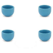 Friesland 4er Set Eierbecher, Happymix, Friesland, H 4 cm Azurblau