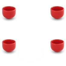Friesland 4er Set Eierbecher, Happymix, Friesland, H 4 cm Rot