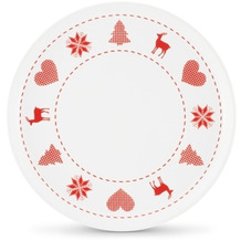 Friesland 4er Set Frühst.-Teller/Jumbo-Untert., Happymix, Friesland, 19 cm Weihnachten Weiß