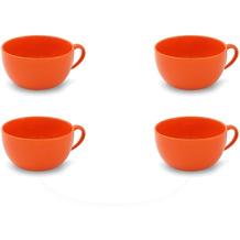 Friesland 4er Set Jumbo-Obertasse, Happymix, Friesland, 0,56l Orange
