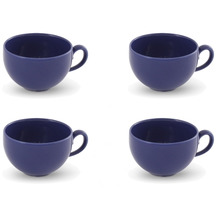 Friesland 4er Set Kaffee- Obertasse Blau, Happymix, Friesland, 0,24l Blau