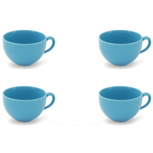 Friesland 4er Set Kaffee- Obertasse, Happymix, Friesland, 0,24l Azurblau