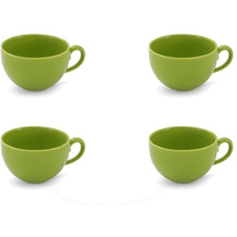 Friesland 4er Set Kaffee- Obertasse, Happymix, Friesland, 0,24l Limette
