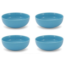 Friesland 4er Set Müslischale, Happymix, Friesland, 15 cm Azurblau