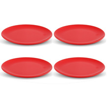 Friesland 4er Set Speiseteller, Happymix, Friesland, 25 cm Rot