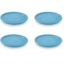 Friesland 4er Set Untertasse, Happymix, Friesland, 15 cm Azurblau