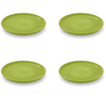 Friesland 4er Set Untertasse, Happymix, Friesland, 15 cm Limette