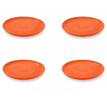 Friesland 4er Set Untertasse, Happymix, Friesland, 15 cm Orange
