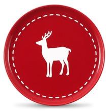 Friesland Frühst.-Teller, Reh, Friesland, 19 cm Weihnachten Rot