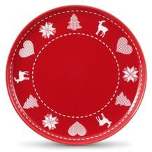 Friesland Frühst.-Teller/Jumbo-Untert., Friesland, 19 cm Weihnachten Rot