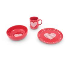 Friesland Weihnachten Rot Frühstück-Set für 1 Person 3-teilig rot