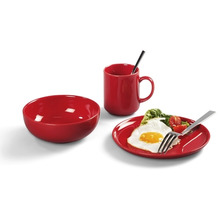 Friesland Frühstücks-Set, Happymix 3-teilig 1 Person Rot