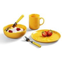 Friesland Happymix Frühstücks-Set für 1 Person 3-teilig Safrangelb