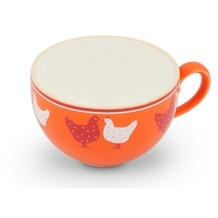 Friesland Kaffee-Obertasse 0,24l Landpartie Hühner Orange