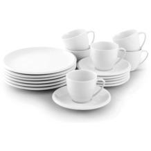 Friesland Ecco Kaffee-Service für 6 Personen 18-teilig weiß