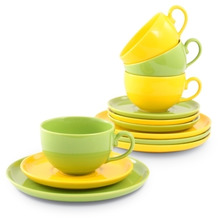 Friesland Kaffee-Set 12tlg. Happymix Limette/Zitrone